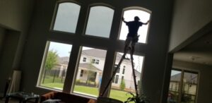 installation of window tinting