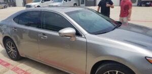 car with window tinting