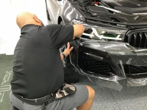 BMW getting paint protection film