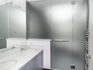 frosted film on shower door